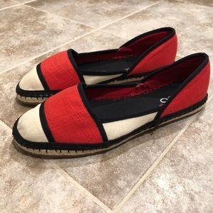 Aldo canvas espadrille red slip on flats shoes 7